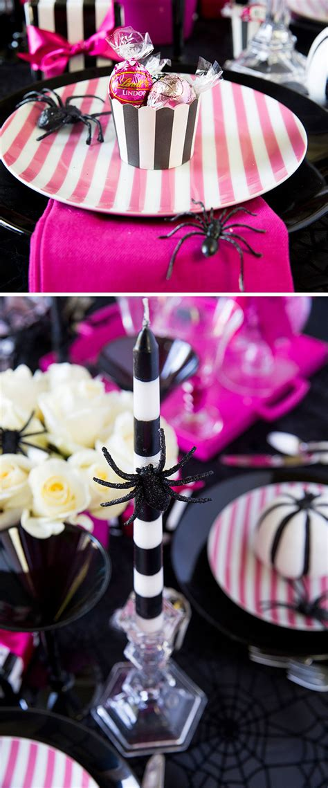 Pink O pink o ween dinner tablescape pizzazzerie