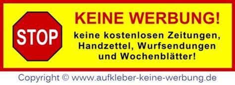 Aufkleber Keine Werbung Greenpeace by Aufkleber Keine Zeitung