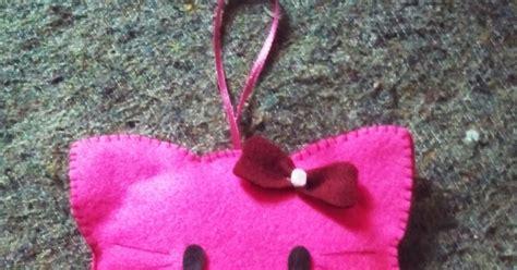 cara membuat gantungan kunci hello kity brt cara membuat gantungan pintu hello kitty dari kain flanel