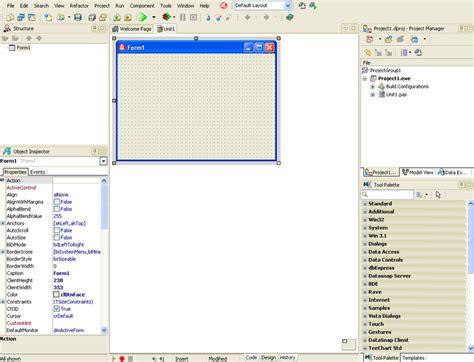 tutorial delphi embarcadero verwendung von projektvorlagen aus der objektablage ide