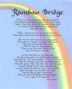 Bridge rainbow bridge poem and bridges the rainbow bridge for dogs