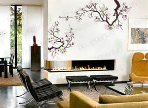 Wall art decals large japanese cherry blossoms tree branches wall