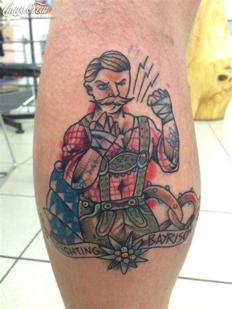 studio 54 tattoo bavarian style munich oktoberfest souvenier tattoos