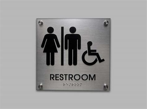 bathroom signages ada restroom signs ada bathroom signs unisex signs