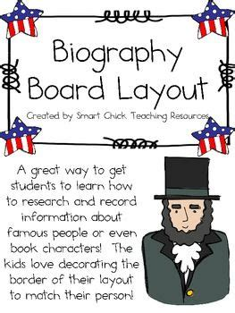 biography report on famous person here s a template for helping students think through the