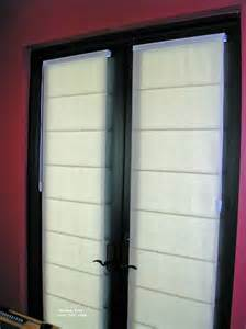 Window tech french door treatments roman shades on french doors