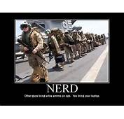 Military Humor Funny Joke Soldier Gun Nerd Marine Bring Your Laptop