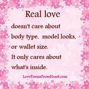Real love doesn t care about body type model looks or wallet size