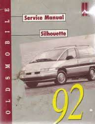 auto repair manual free download 1992 oldsmobile silhouette user handbook 1992 oldsmobile silhouette factory service manual