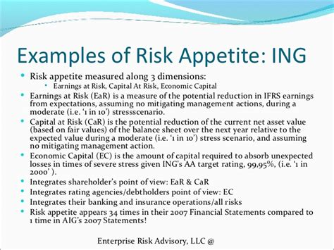 risk statement template risk appetite