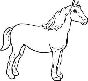 Horse to color for kids simple way to color coloring pages of horses