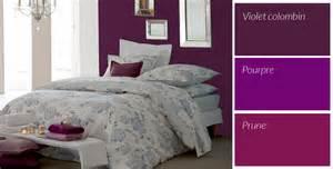 chambre couleur violet et gris design de