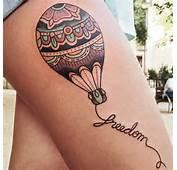 Tatuagem Bal&227o Old School Coxa Por LW Tattoo
