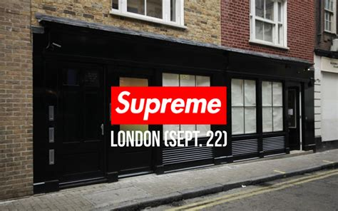 supreme store uk lord supreme store opening september 22nd