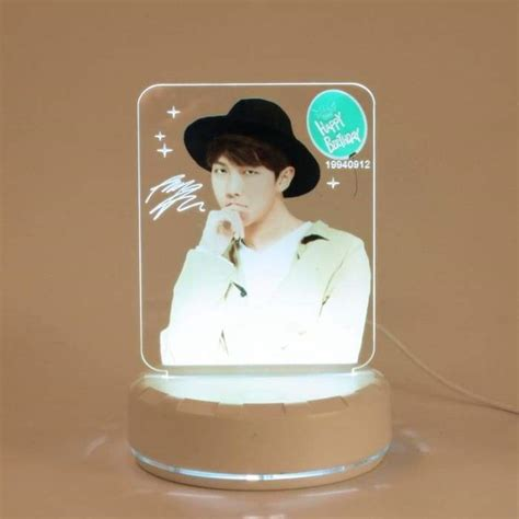 bts happy birthday wishing led plaque bts high quality