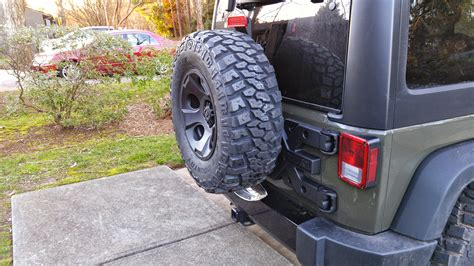 hinged tire carrier  oversized spare jeep wrangler forum