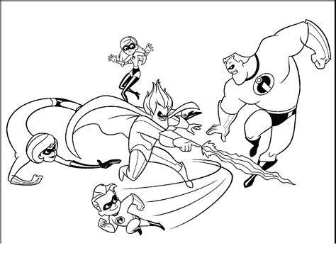 incredibles coloring pages incredibles coloring