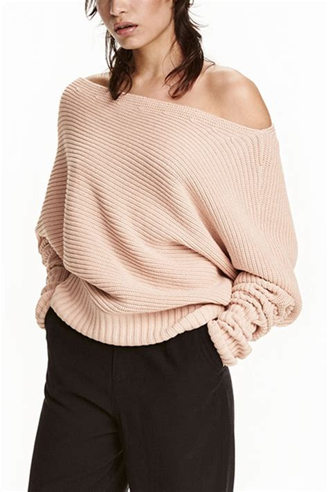 light pink long sleeve chic pullover sweater  womens