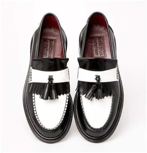 two tone tassel loafers two tone rude boy special tassel loafer mod shoes