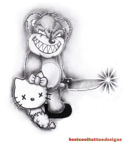 teddy bear tattoo designs best cool tattoo designs