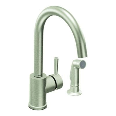 discontinued moen kitchen faucets moen level single handle side sprayer kitchen faucet in