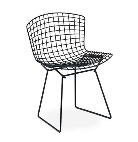 chaise bertoia knoll knoll chaise bertoia noir acier myareadesign com