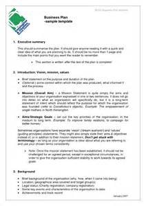 free business plan templates free business plan template sles and templates