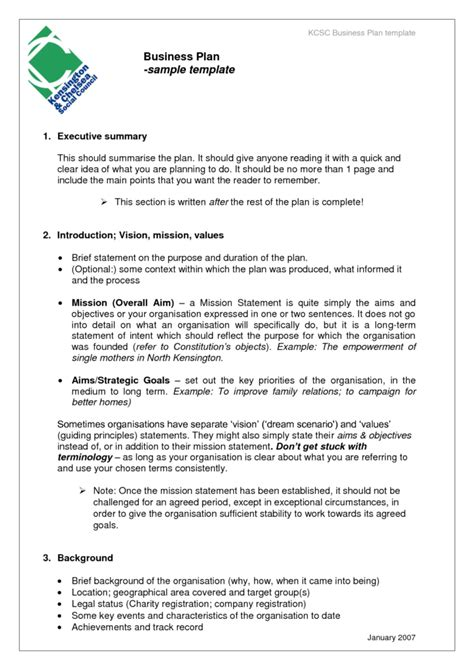 corporate business plan template free business plan template sles and templates