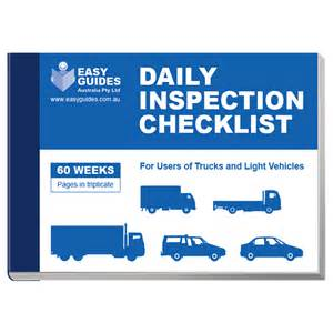 Vehicle Service Report Template daily inspection checklist for trucks and light vehicles