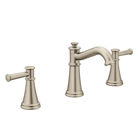 widespread bathroom faucet brushed nickel pfister ladera 8 in widespread 2 handle bathroom faucet