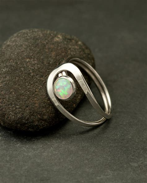 Handmade Silver Rings With Gemstones - opal ring silver opal ring gemstone ring sterling silver