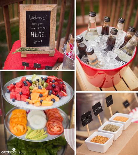 burger bar topping ideas ideas to spice up your summer bbq featuring a gourmet burger bar cardstore blog