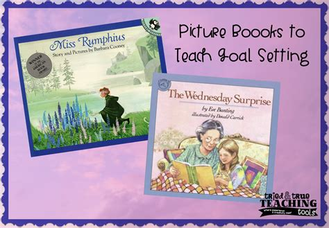 picture books that teach setting mentor monday setting goals