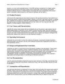 software user requirements template software requirement specification master template