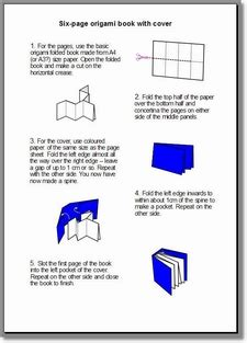 How To Make An Origami Booklet - paper books gemsjots