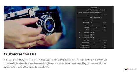 final cut pro lut pixel film studios releases fcpx lut lomo for final cut pro x