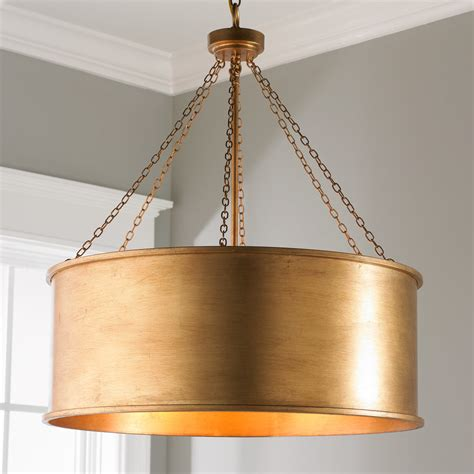 metal drum l shade luxe patina metal drum shade pendant large shades of light