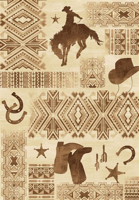 Cowboy Rugs by Western Cowboy Rug 5 X 7