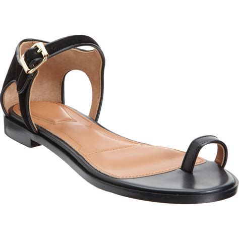 sandals with toe ring givenchy toe ring sandal in black lyst