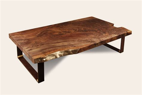 walnut slab coffee table by studio roeper for sale on luxify