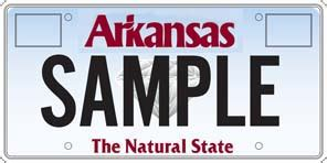 Arkansas Vanity Plates dfa specialty plate placard details