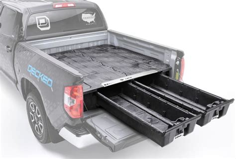decked truck bed storage parts bin decked in vehicle storage systems onallcylinders