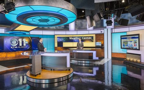 Ktva Tv Set Design Gallery News Studio Desk