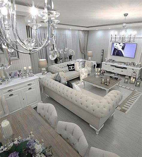 white and silver living room 25 best ideas about glamorous living rooms on pinterest