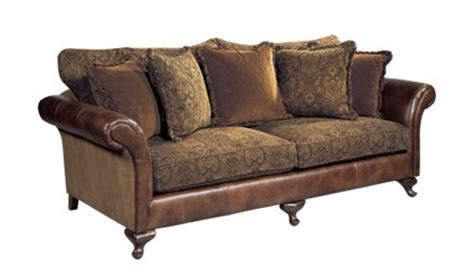 combination leather and fabric sofas leather sofa with cloth cushions bernhardt henri sofa fabric leather combination decor