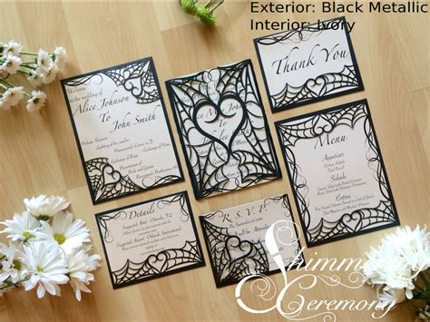web wedding invitation spider web wedding invitation laser cut