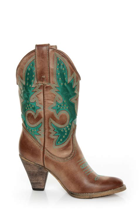teal cowboy boots volatile grande teal embroidered cowboy