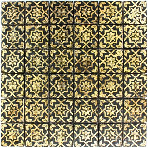 fliese gold schiefer mosaik fliese blattgold schwarz lz69180m