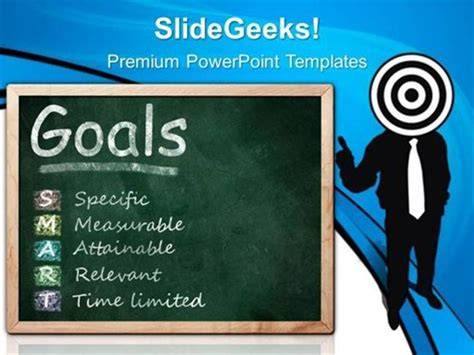 ppt templates for goal setting targets target on smart goals business ppt template