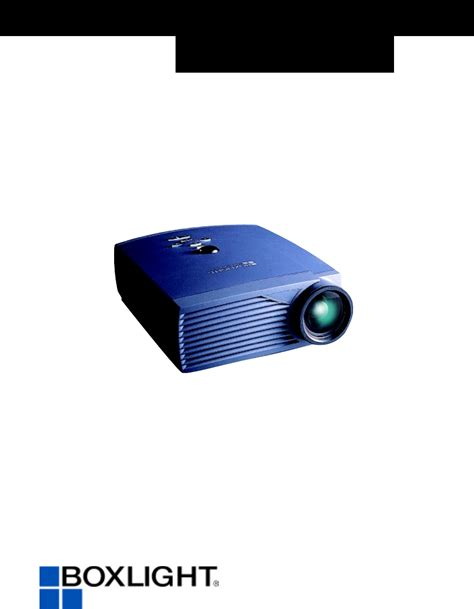 boxlight projector cd 450m manual